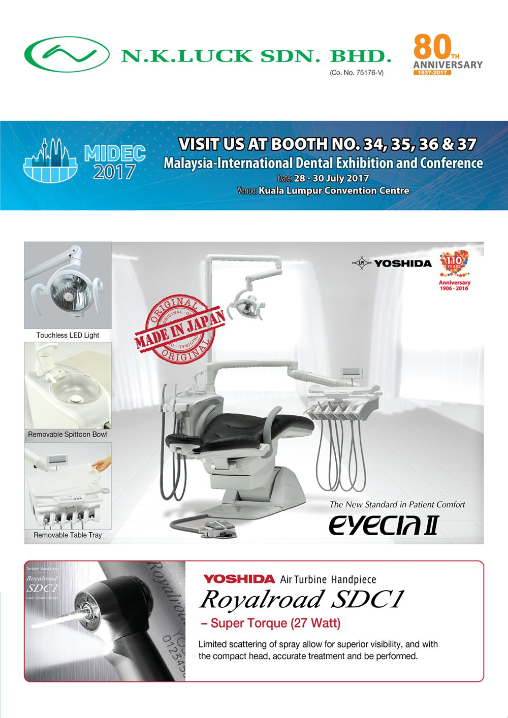 PROMOTTION - VISIT US AT BOOTH NO. 34, 35, 36 and 37