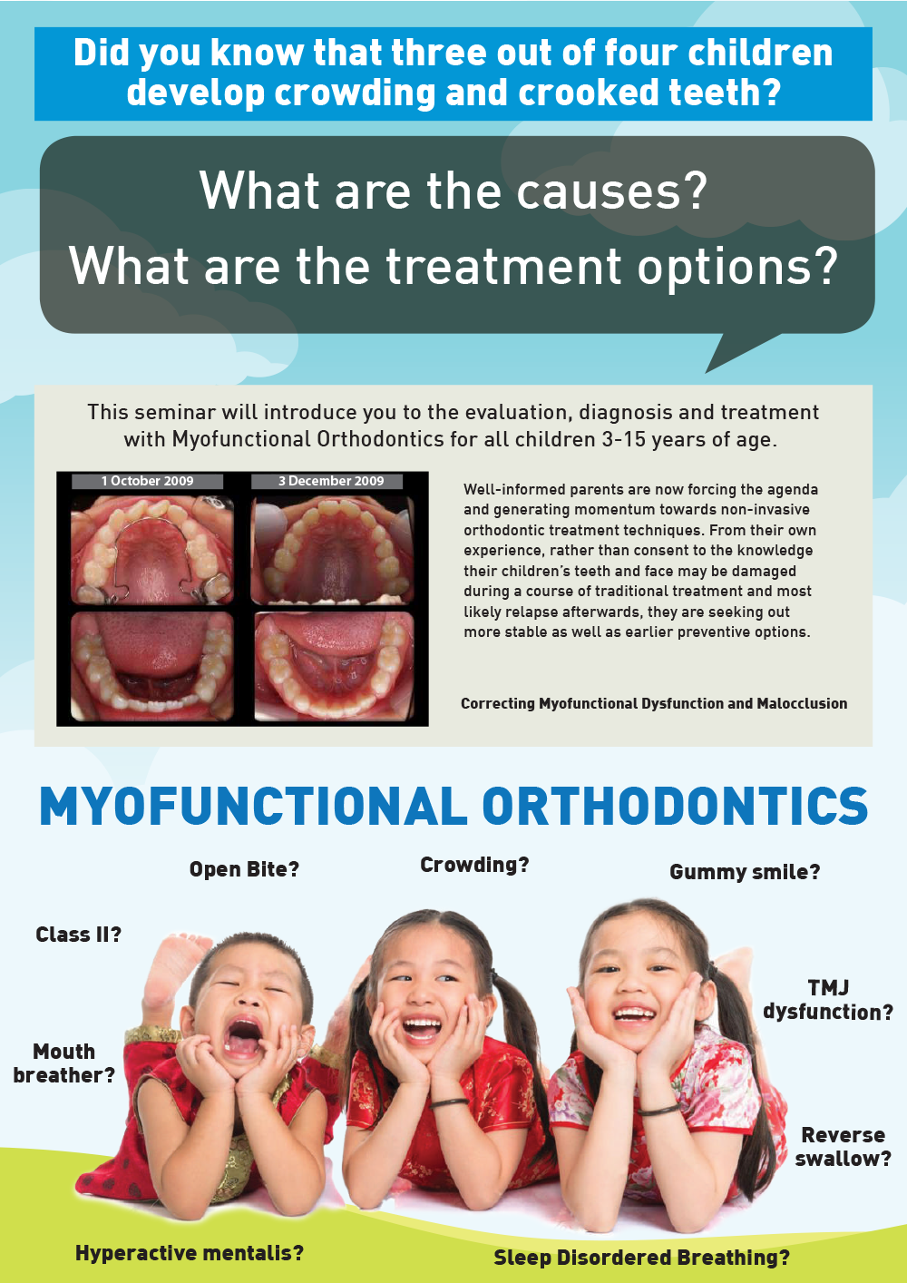 MYOFUNCTIONAL ORTHODONTICS - 2 DAYS SEMINAR & WORKSHOP