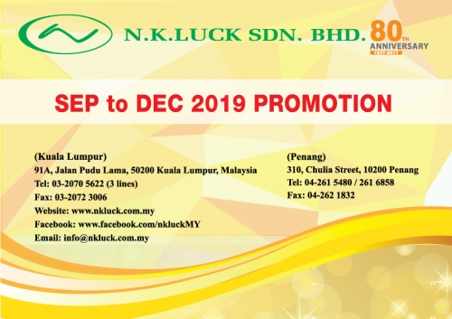 SEP to DEC 2019 PROMOTION